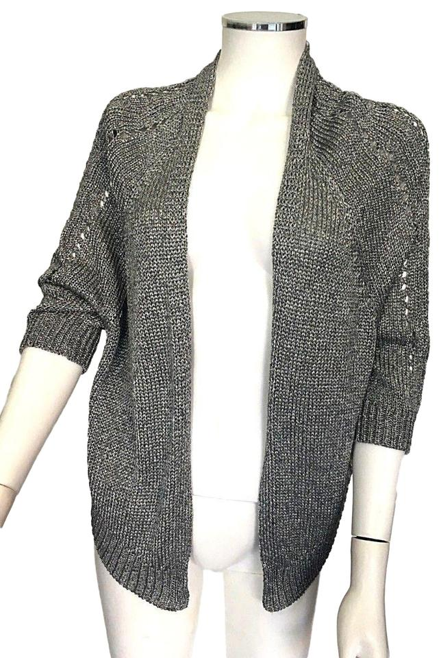 54b9356922d3b Vince Silver Gray Shimmering Knit Shrug Sweater Chic Cardigan Size 2 ...
