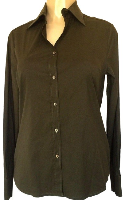 Preload https://img-static.tradesy.com/item/24548991/paul-and-joe-green-classic-shirt-women-forest-stretch-cotton-long-sleeve-button-down-top-size-12-l-0-1-650-650.jpg