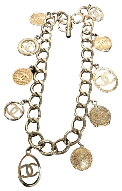 Item - Gold Icon Link Charm Belt/Necklace Belt