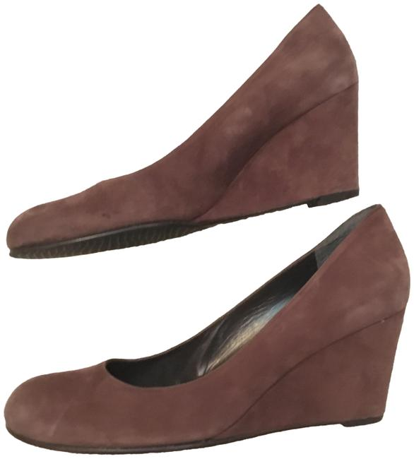 Stuart Weitzman Chocolate Brown Suede Round-toe Wedges Size US 7.5 Regular (M, B) Stuart Weitzman Chocolate Brown Suede Round-toe Wedges Size US 7.5 Regular (M, B) Image 1