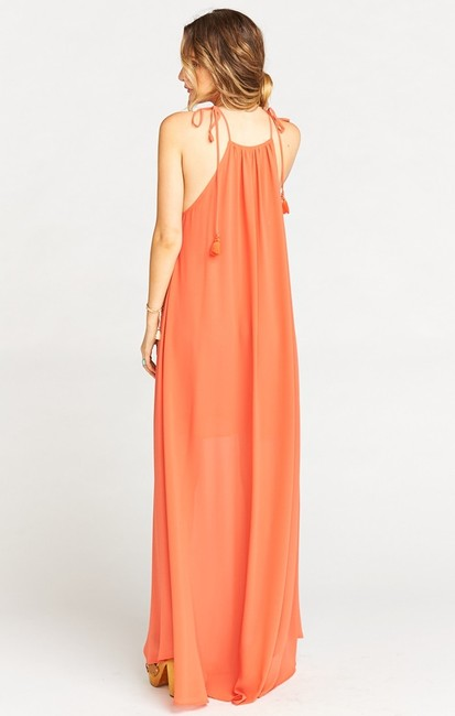 orange Maxi Dress by Show Me Your Mumu Maxi Sleeveless Chiffon Full Length Image 1