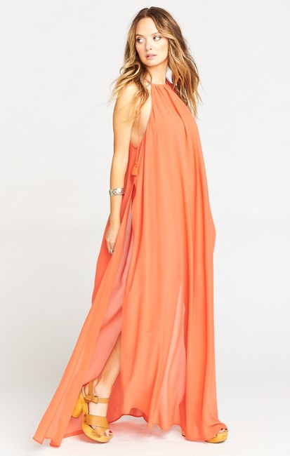 orange Maxi Dress by Show Me Your Mumu Maxi Sleeveless Chiffon Full Length Image 2