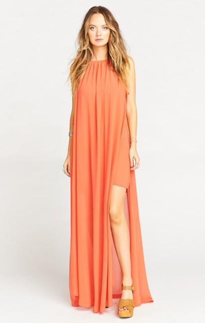 orange Maxi Dress by Show Me Your Mumu Maxi Sleeveless Chiffon Full Length Image 3
