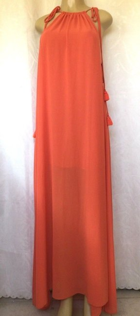 orange Maxi Dress by Show Me Your Mumu Maxi Sleeveless Chiffon Full Length Image 4