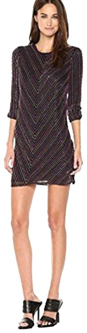 Parker Black Women's Petra 3/4 Sleeve Beaded Mini Short Cocktail Dress Size 6 (S) Parker Black Women's Petra 3/4 Sleeve Beaded Mini Short Cocktail Dress Size 6 (S) Image 1
