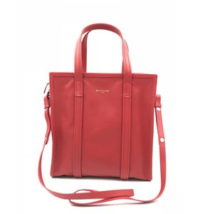 Balenciaga Shopper Red Messenger Bag