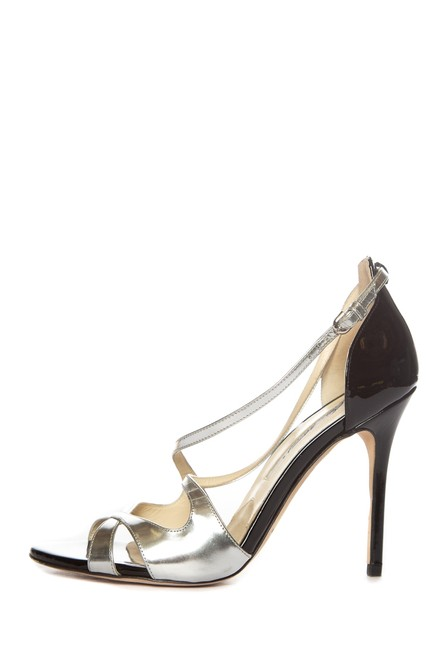 Brian Atwood Silver Black Strappy Sandals Size EU 37 (Approx. US 7) Regular (M, B) Brian Atwood Silver Black Strappy Sandals Size EU 37 (Approx. US 7) Regular (M, B) Image 1