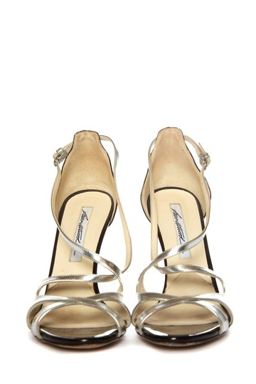 Brian Atwood Silver Sandals Image 1