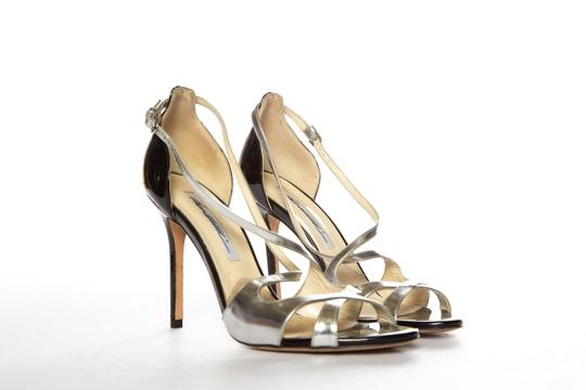 Brian Atwood Silver Sandals Image 4