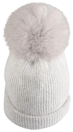 Preload https://img-static.tradesy.com/item/24549284/light-gray-new-angora-wool-detachable-real-fur-pom-pom-beanie-hat-hair-accessory-0-1-540-540.jpg
