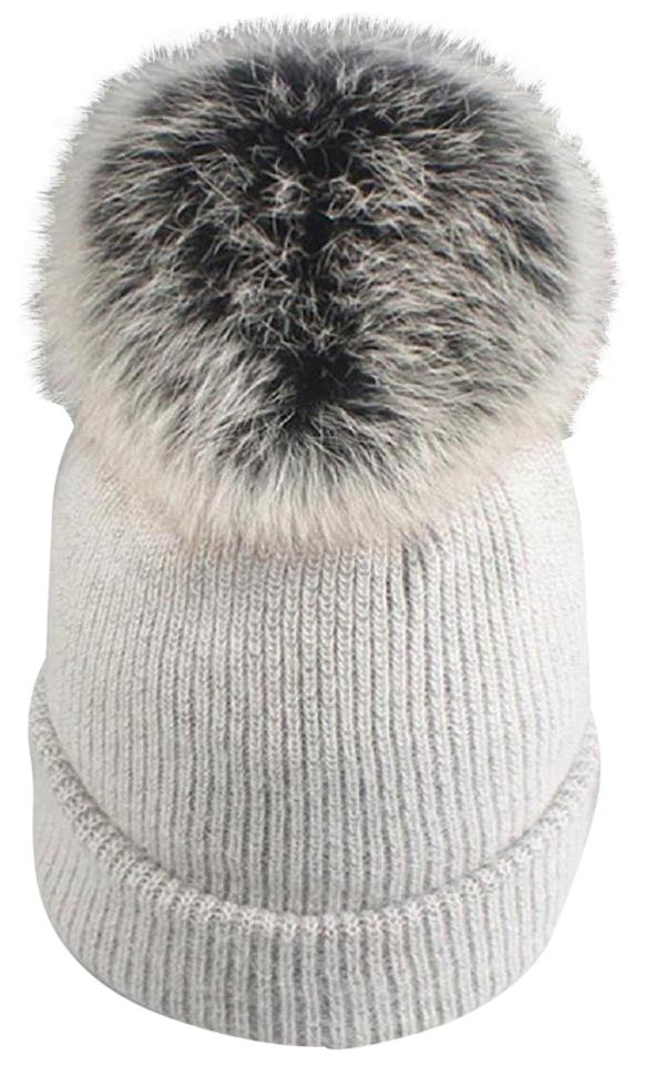 24a6e85c1ff Other New Angora Wool Detachable Real Fur Pom Pom Beanie Hat Image 0 ...