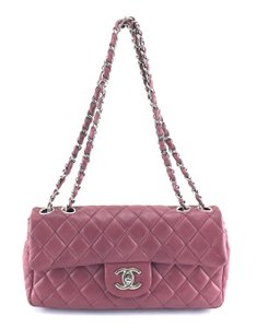73ebd5d06950 Chanel East West #24765 Rare Long Cc Classic Quilted Flap Two Way ...