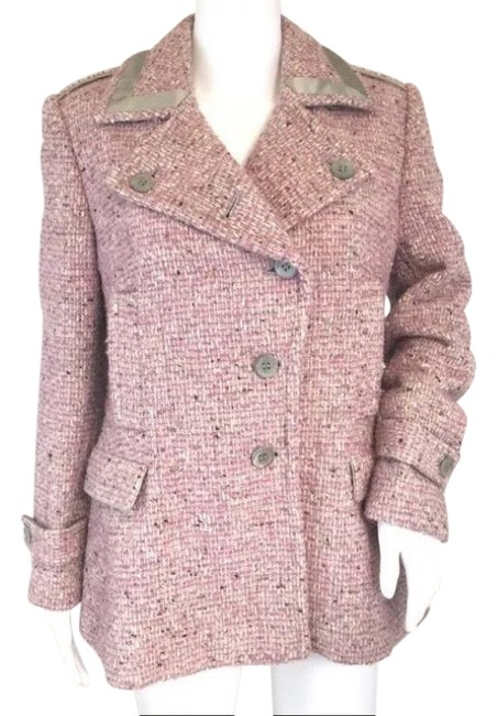 Item - Lavender Purple Cream Tweet Double Breasted Wool Blend Coat Size 6 (S)