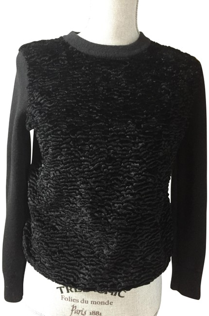 Kate Spade Wool Astrakhan Black Sweater Kate Spade Wool Astrakhan Black Sweater Image 1