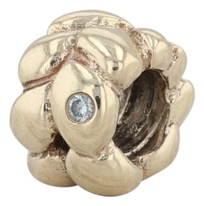 PANDORA Authentic Pandora Golden Dream Diamond Charm 750408D - 14k Bead