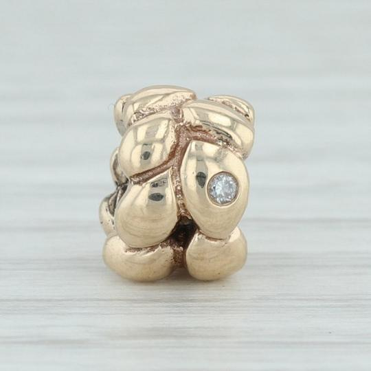 PANDORA Authentic Pandora Golden Dream Diamond Charm 750408D - 14k Bead Image 1