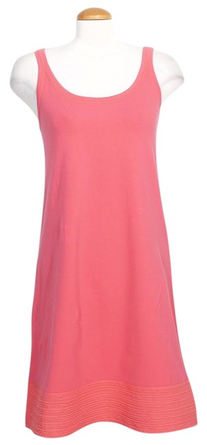 Preload https://img-static.tradesy.com/item/24549407/eileen-fisher-rose-pink-organic-cotton-jersey-knit-woven-hem-s-short-casual-dress-size-6-s-0-1-650-650.jpg