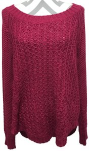 Calvin Klein Jeans Chunky Knit Open Knit Curved Hem Line Sweater
