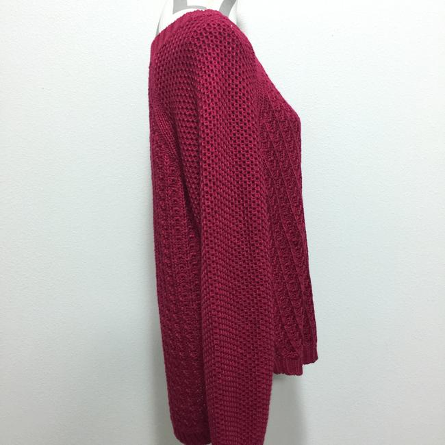 Calvin Klein Jeans Chunky Knit Open Knit Curved Hem Line Sweater Image 1