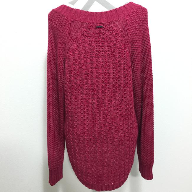 Calvin Klein Jeans Chunky Knit Open Knit Curved Hem Line Sweater Image 2