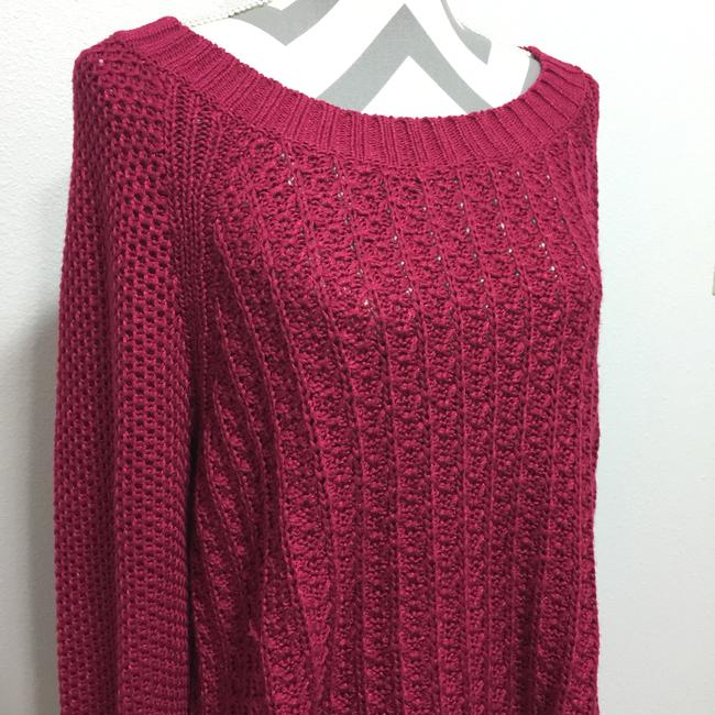 Calvin Klein Jeans Chunky Knit Open Knit Curved Hem Line Sweater Image 3