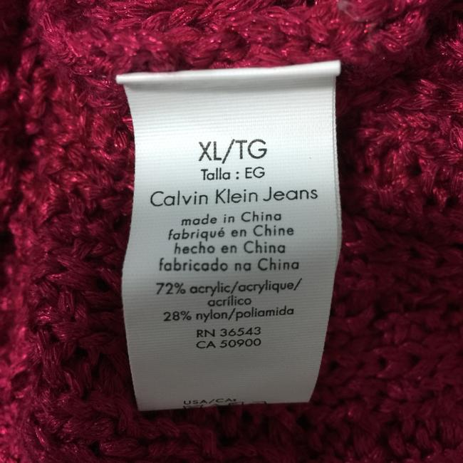 Calvin Klein Jeans Chunky Knit Open Knit Curved Hem Line Sweater Image 4
