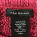 Calvin Klein Jeans Chunky Knit Open Knit Curved Hem Line Sweater Image 5