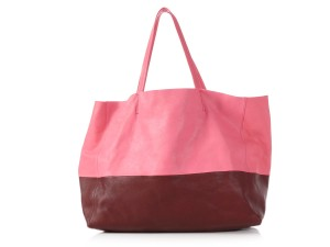 Céline Ce.p1121.11 Two-tone Gold Hardware Reduced Price Tote in Pink