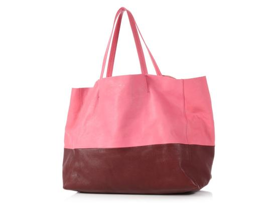 Céline Ce.p1121.11 Two-tone Gold Hardware Reduced Price Tote in Pink Image 1