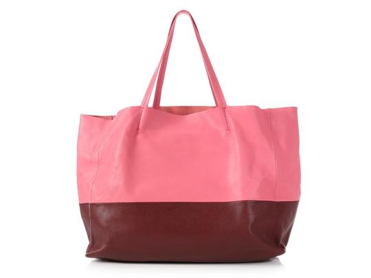 Céline Ce.p1121.11 Two-tone Gold Hardware Reduced Price Tote in Pink Image 3