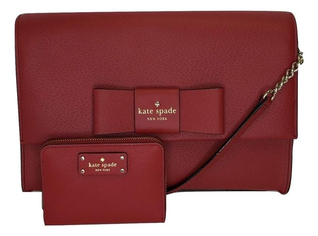 Kate Spade Robinson Street Zanni Wkru4866 Bundled with Matching Dani Red Carpet Leather Cross Body Bag Kate Spade Robinson Street Zanni Wkru4866 Bundled with Matching Dani Red Carpet Leather Cross Body Bag Image 1