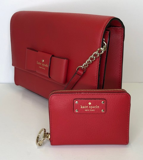 Kate Spade Leather Dusty Peony Set Handbag And Wallet Cross Body Bag Image 2