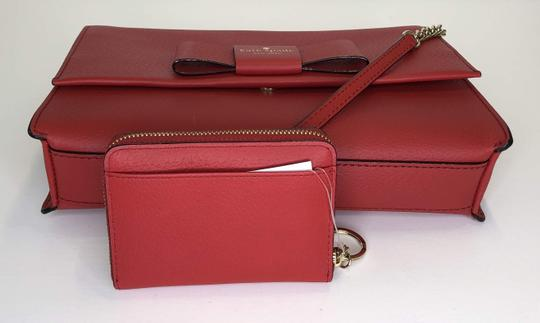 Kate Spade Leather Dusty Peony Set Handbag And Wallet Cross Body Bag Image 3