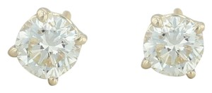 Other .88ctw Diamond Stud Earrings - 14k Yellow Gold Round Solitaire Pierced