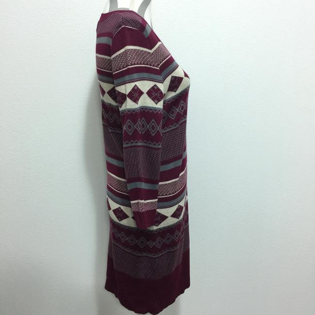 Maroon & Gray Maxi Dress by cloud chaser Juniors Sweater Tribal Print Image 1