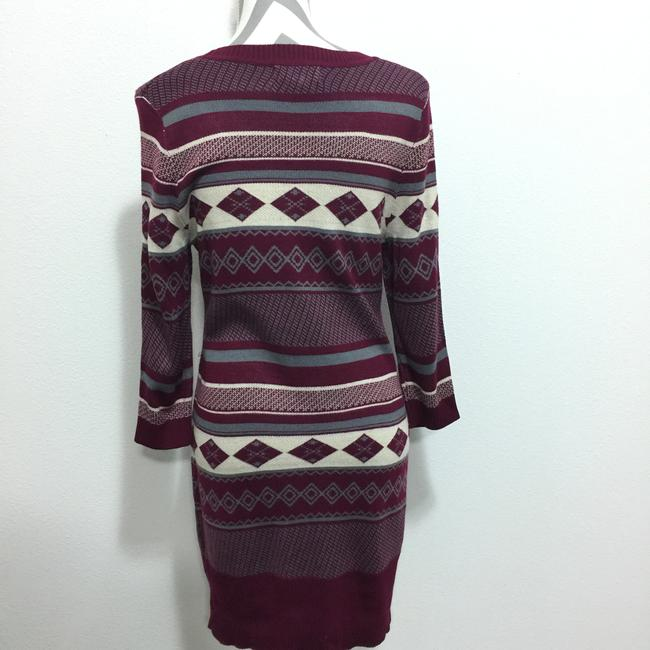 Maroon & Gray Maxi Dress by cloud chaser Juniors Sweater Tribal Print Image 3