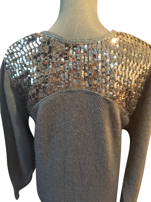 Neiman Marcus Vintage Mohair Embellished Gray Sweater Neiman Marcus Vintage Mohair Embellished Gray Sweater Image 1