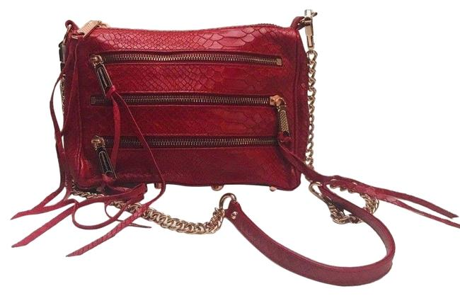 Rebecca Minkoff Panama Mini 5 Red Leather Cross Body Bag Rebecca Minkoff Panama Mini 5 Red Leather Cross Body Bag Image 1