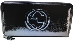 Gucci Gucci Soho Patent Leather Zip Around Wallet