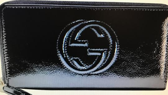 Gucci Gucci Soho Patent Leather Zip Around Wallet Image 4