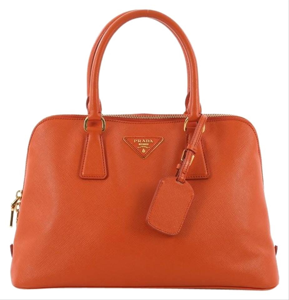 f7ed50628818 Prada Promenade Handbag Saffiano Medium Orange Leather Tote - Tradesy