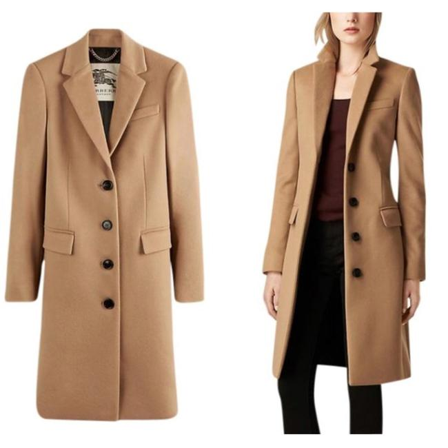 Item - Camel Tan Brown Tailored Wool Cashmere Coat Size 2 (XS)