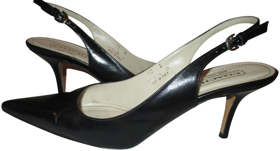 2019 original new arrive thoughts on Coach Black Alena Slingback Womens Pointed Toe Heel Pumps Size US 10  Regular (M, B) 67% off retail