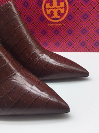 Tory Burch Crocodile Ankle Leather Perfect Brown Boots Image 6