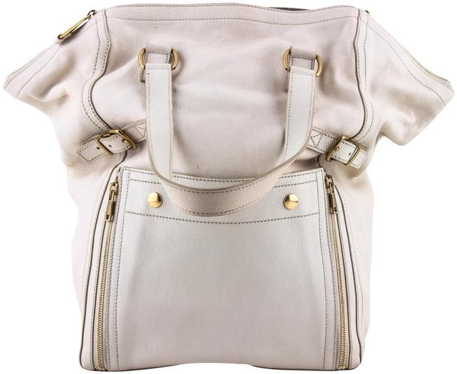 Item - Tote Downtown Large White Leather Shoulder Bag