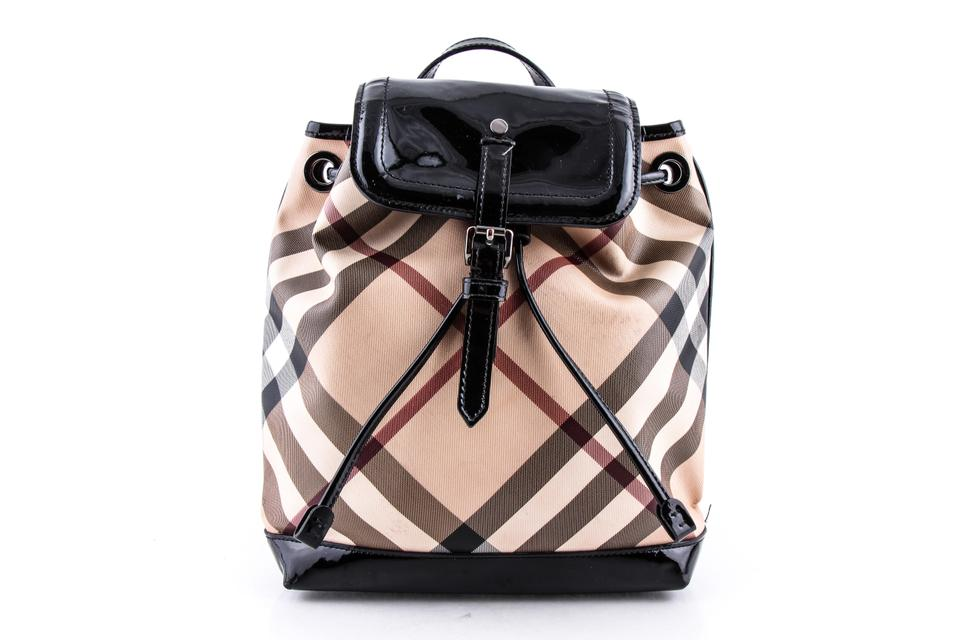 f11d69935b3c Burberry  house Check  Multicolor Nylon Leather Backpack - Tradesy