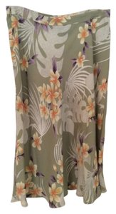Tommy Bahama Tropical Print Skirt Green multi