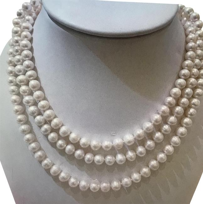 Pearl Three Strands Necklace Pearl Three Strands Necklace Image 1