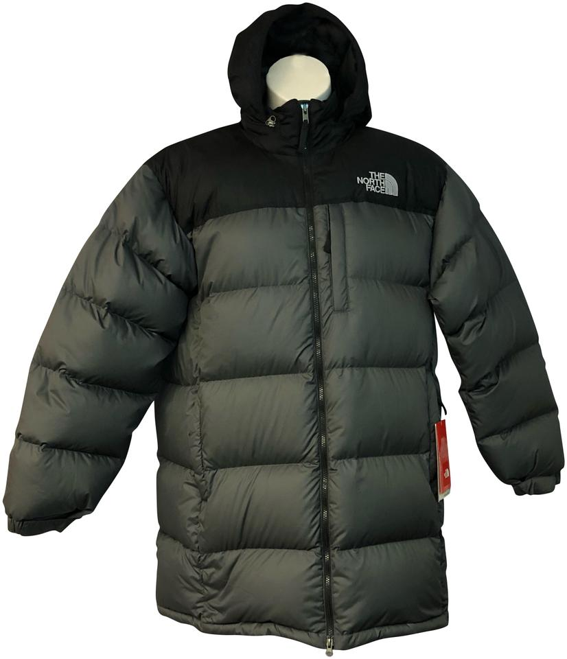 a1431d15da The North Face Gray Hooded Puffer L Coat Size 12 (L) - Tradesy