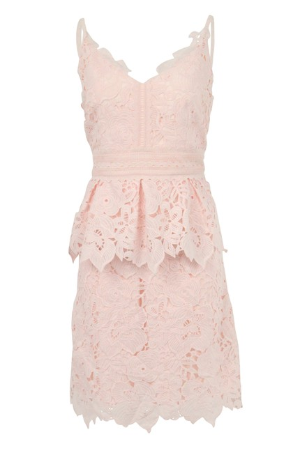 9e2f0d7e5 Ted Baker Pink Lace Mid-length Cocktail Dress Size 10 (M) - Tradesy